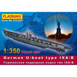 German U-boat type IX A/B Profi Set