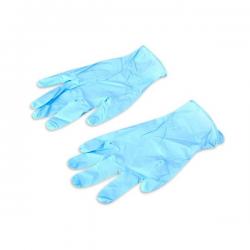 Перчатки латекс, голубые